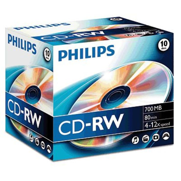 Philips CD-RW Rohlinge/CW7D2NJ10/00 10 im Jewel...