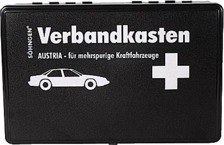 SÖHNGEN® Kfz-Verbandkasten Austria/0303711, schwarz; B260 x H160 x T80 mm