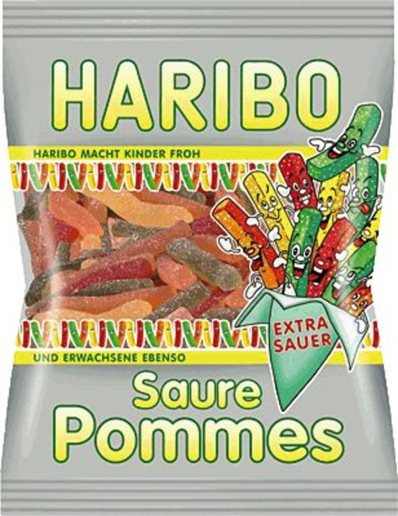 HARIBO Saure Pommes/750532, Fruchtgummi, Inh. 2...