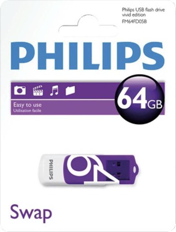 Philips USB-Stick Vivid 64 GB/FM64FD05B/10 USB 2.0