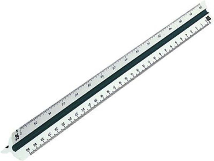 RUMOLD Dreikantmaßstab 150, 150KE/DIN/30, weiß,...