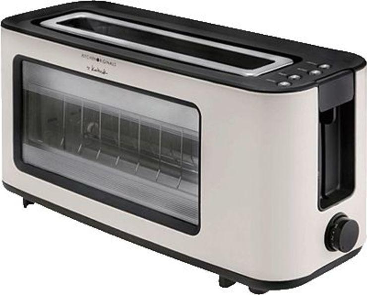 KITCHEN ORIGINALS Glas-Toaster/TKGTO1012KTO 38 x 20 x 15 cm cremeweiß