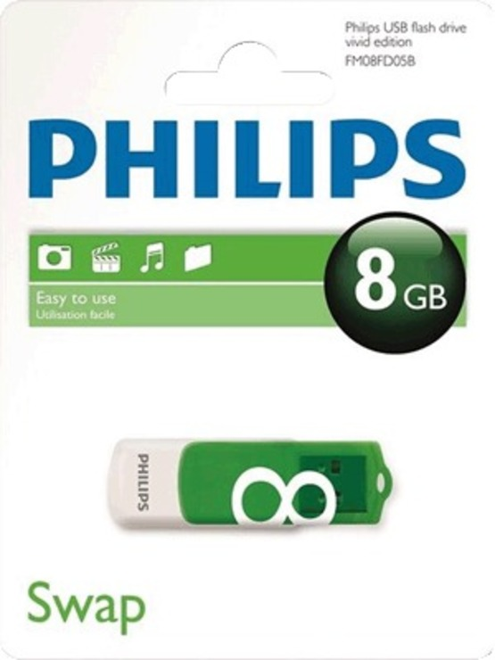 Philips USB-Stick Vivid 8 GB/FM08FD05B/10 USB 2.0