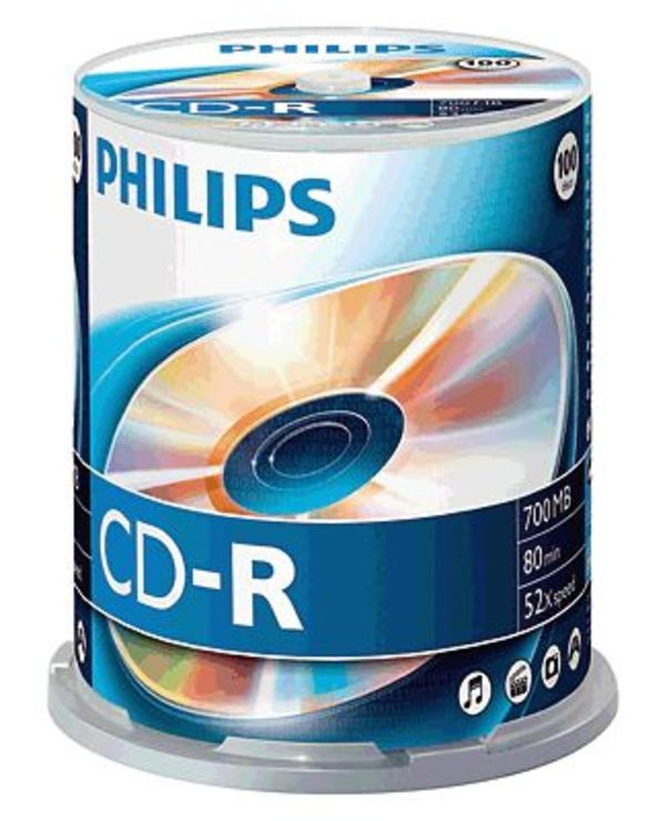 Philips CD-R Rohlinge/CR7D5NB00/00 100