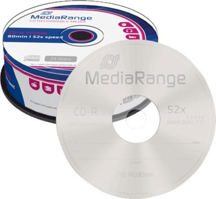 MediaRange CD-R Rohlinge/MR201 52x 700MB Inh. 2...