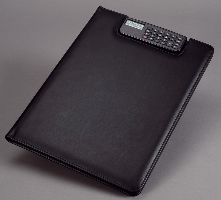 Alassio® Schreibmappe BRESCIA, 25 x 33 x 2 cm, Lederimitat, schwarz