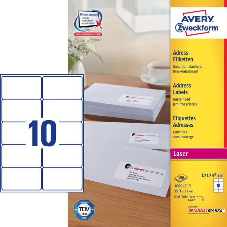 Avery Zweckform Adress-Etiketten QuickPEEL, Las...