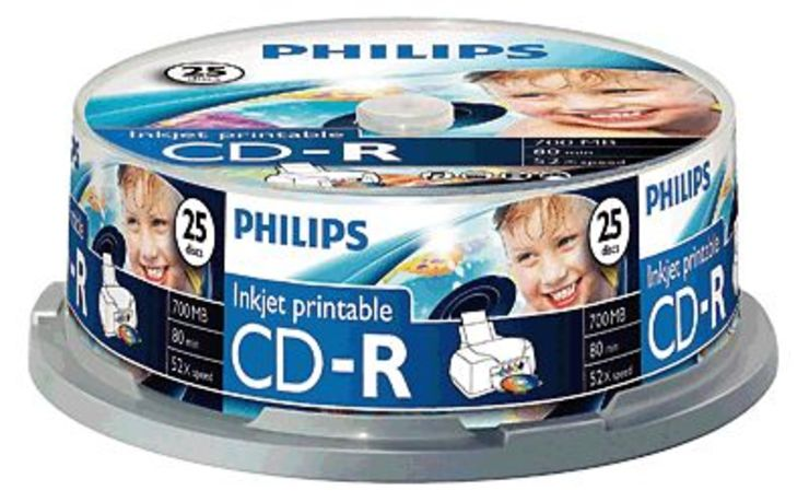 Philips CD-R Rohlinge bedruckbar/CR7D5JB25/00 25