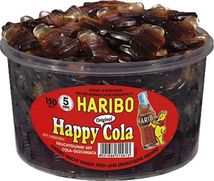 HARIBO Happy Cola/379982, Fruchtgummi, Inh. 150
