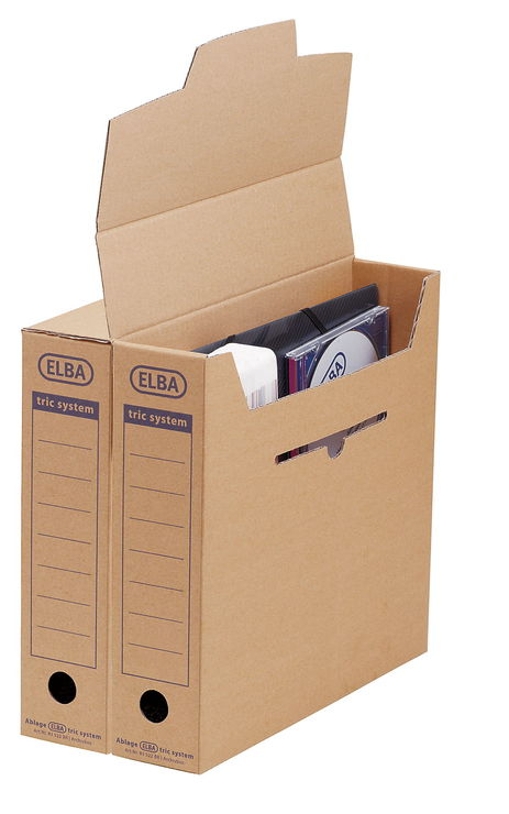 ELBA Archiv-Box, tric system, Wellpappe, 76 x 3...
