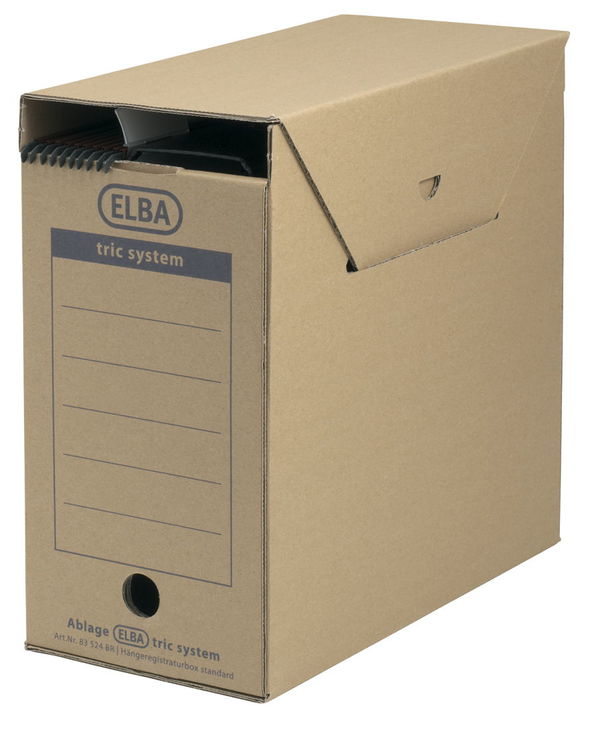 ELBA Archiv-Box Standard tric system, Wellpappe...