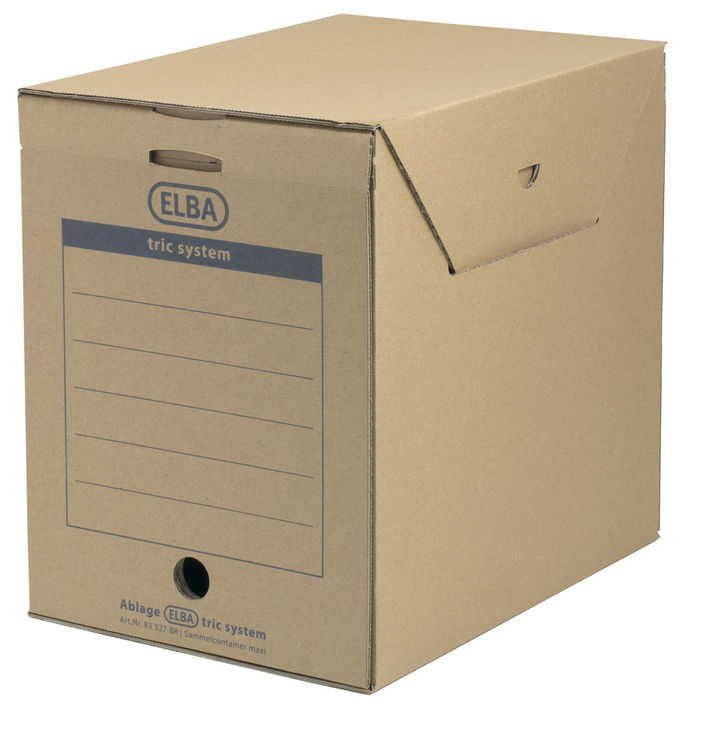 ELBA Archiv-Box maxi tric system, Wellpappe, 23...