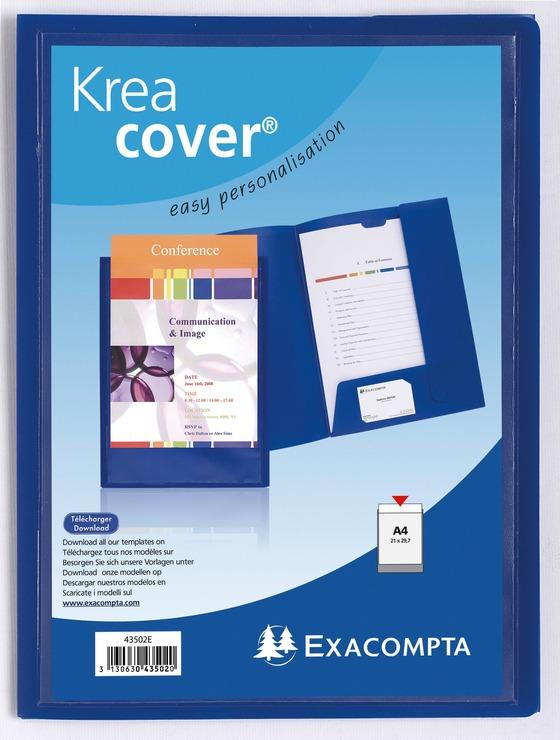 Exacompta Präsentationsmappe Kreacover®, PP, DIN A4, 240 x 320 mm, schwarz
