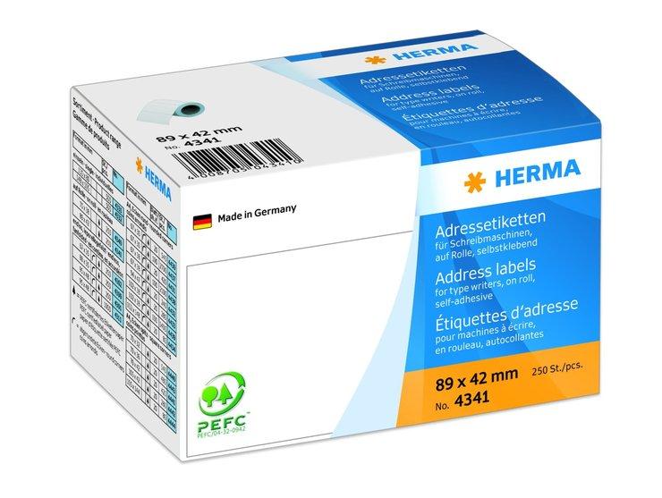 HERMA Adress-Etikett auf Rolle, 89 x 42 mm, wei...
