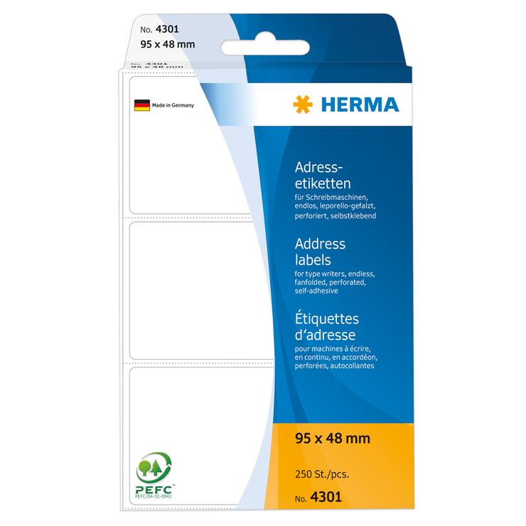HERMA Adress-Etikett, leporello, lift-off Quali...