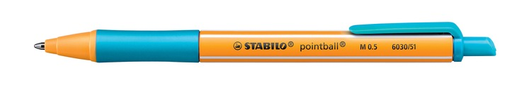 Kugelschreiber STABILO® pointball®, Druckmechan...
