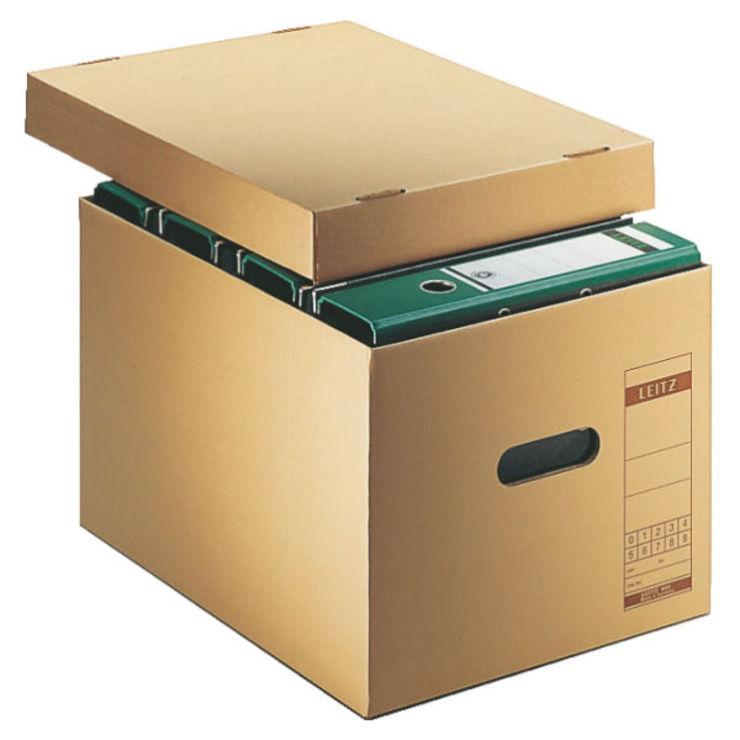 Leitz Archiv-Schachtel, A4, mit Deckel, naturbraun
