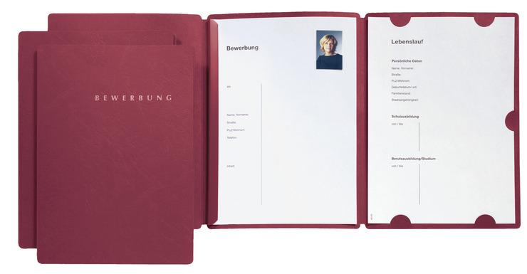 PAGNA Bewerbungsmappe Select Basic 3tlg. rot