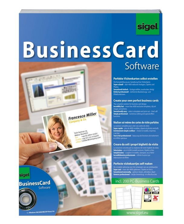Sigel Software BusinessCard für Visitenkarten