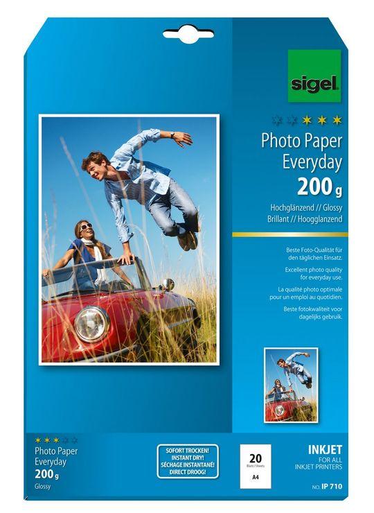 Sigel Inkjet A4 200g hochglänzend 20Bl Everyday...