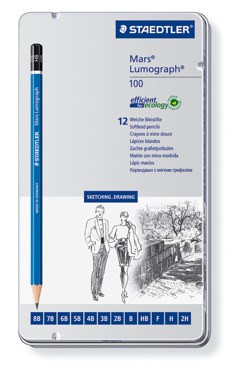 STAEDTLER® Bleistift Mars® Lumograph®, 12 Stück...