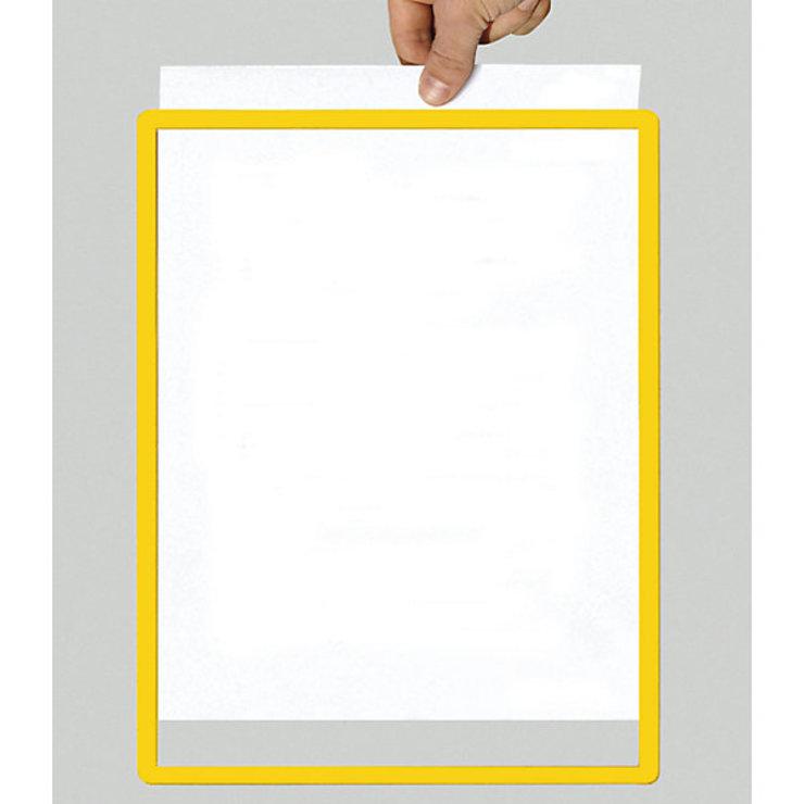 Rahmen mit Klarsichtfolie - Papierformat A4, VE 10 Stk, gelb ...