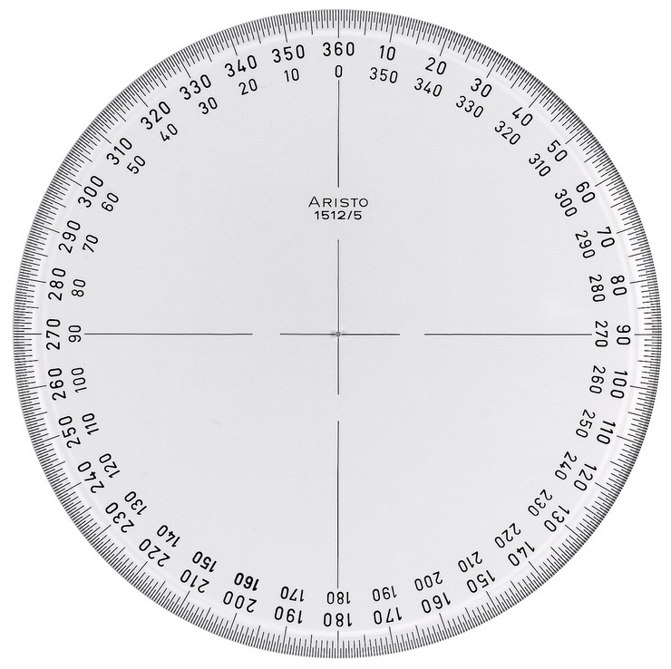 360 Protractor Template Printable Geometry Picture