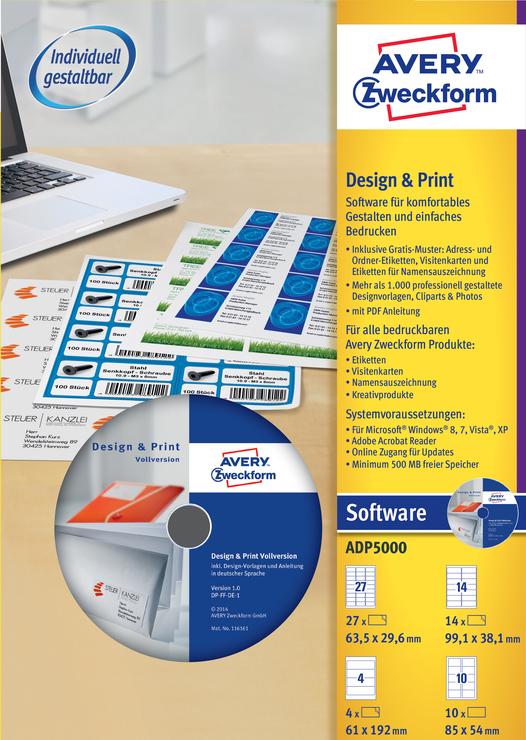 Avery Zweckform Designpro5000 Vollversion Papersmart