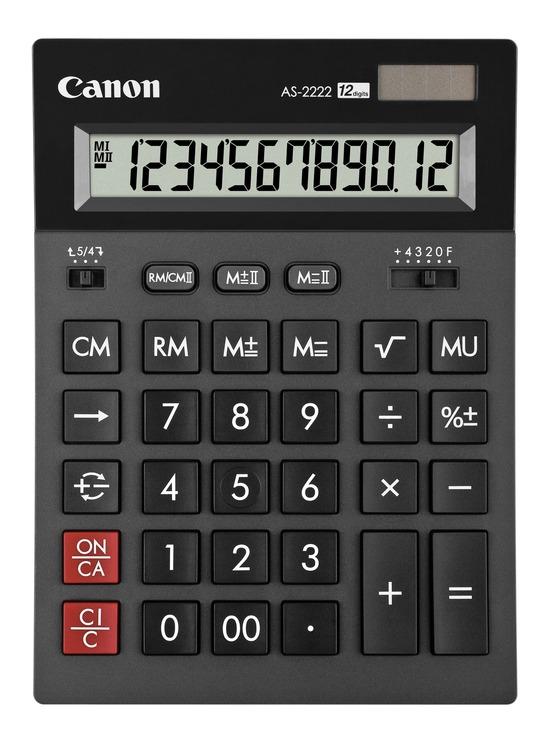 canon tischrechner as 2222 g nstig kaufen papersmart. Black Bedroom Furniture Sets. Home Design Ideas