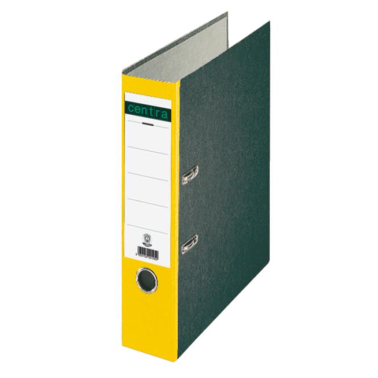 ordner din a4 80 mm karton wolkenmarmor gelb papersmart. Black Bedroom Furniture Sets. Home Design Ideas