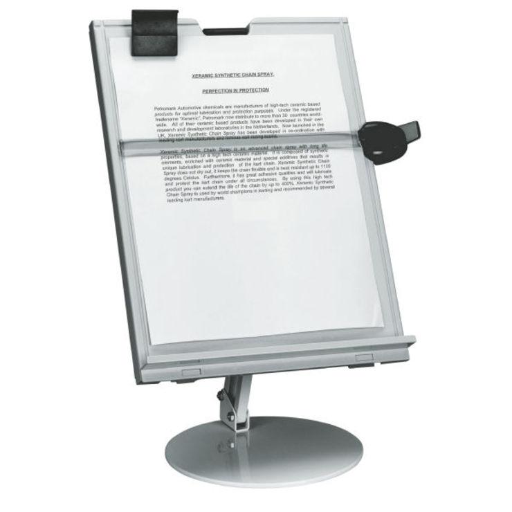 Dataline Vorlagenhalter mit Fuß, A4, grau | Papersmart