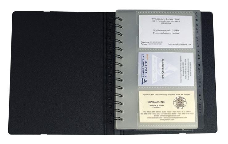 Exacompta Visitenkartenbuch Exative Exacard Papersmart