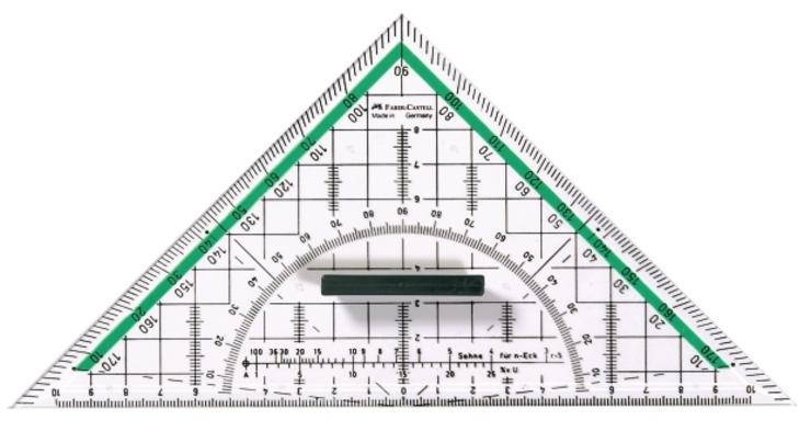 Faber-Castell Geodreieck groß günstig kaufen | Papersmart