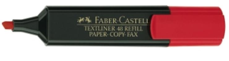 rot FABER-CASTELL Textmarker TEXTLINER 48 REFILL
