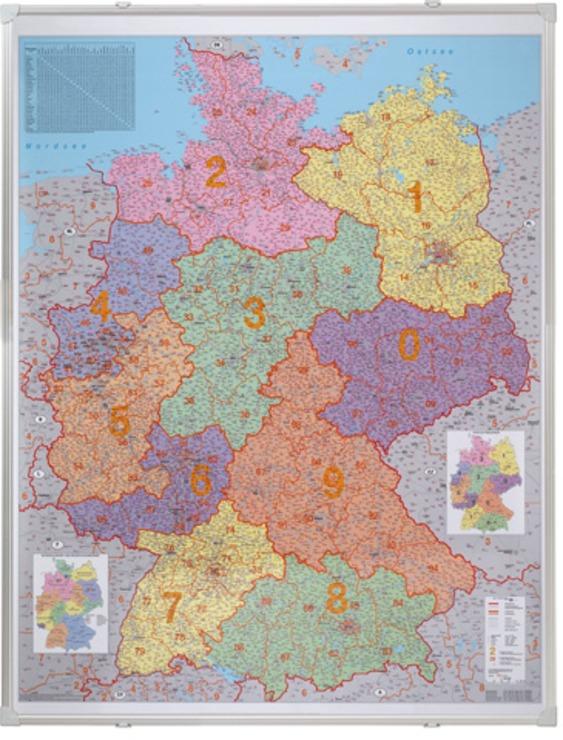 Franken magnethaftende Straßenkarte Tafel Deutschland