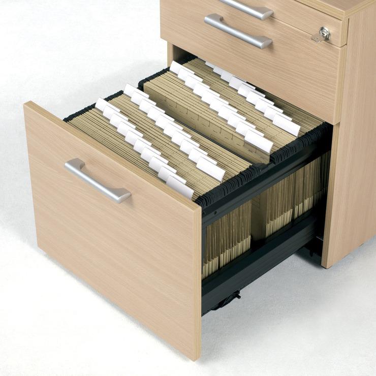 Geramöbel Rollcontainer mit Hängeregistratur und Materialschubfach ...