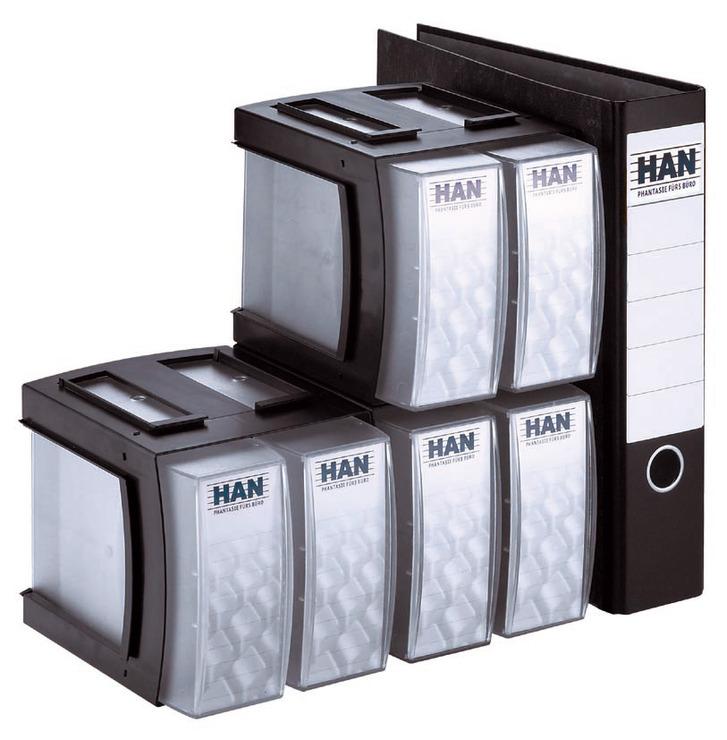 Cd Aufbewahrung han cd box combo für 32 cds blau transluzent papersmart
