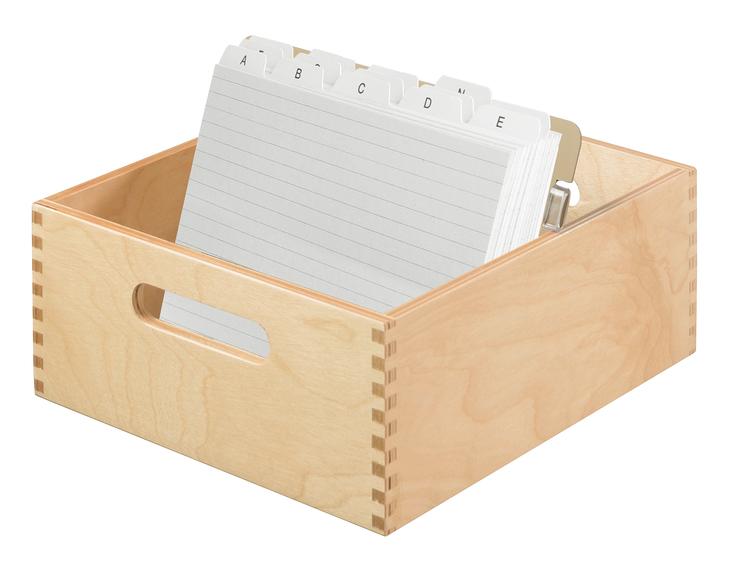 han karteitrog din a5 quer naturholz papersmart. Black Bedroom Furniture Sets. Home Design Ideas