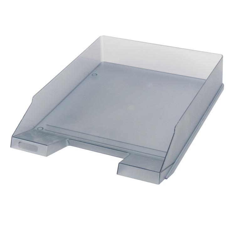 herlitz ablagekorb briefkorb a4 c4 classic grau transluzent papersmart. Black Bedroom Furniture Sets. Home Design Ideas