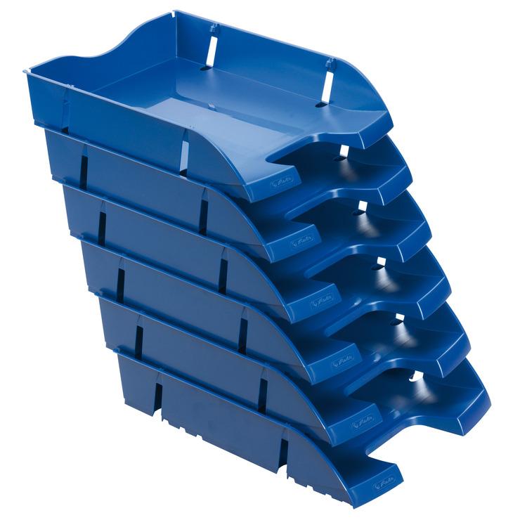 herlitz ablagekorb briefkorb a4 c4 space blau recycling pet blauer engel papersmart. Black Bedroom Furniture Sets. Home Design Ideas