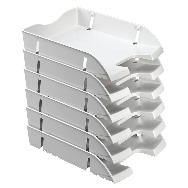 herlitz ablagekorb briefkorb a4 c4 space grau recycling pet blauer engel papersmart. Black Bedroom Furniture Sets. Home Design Ideas