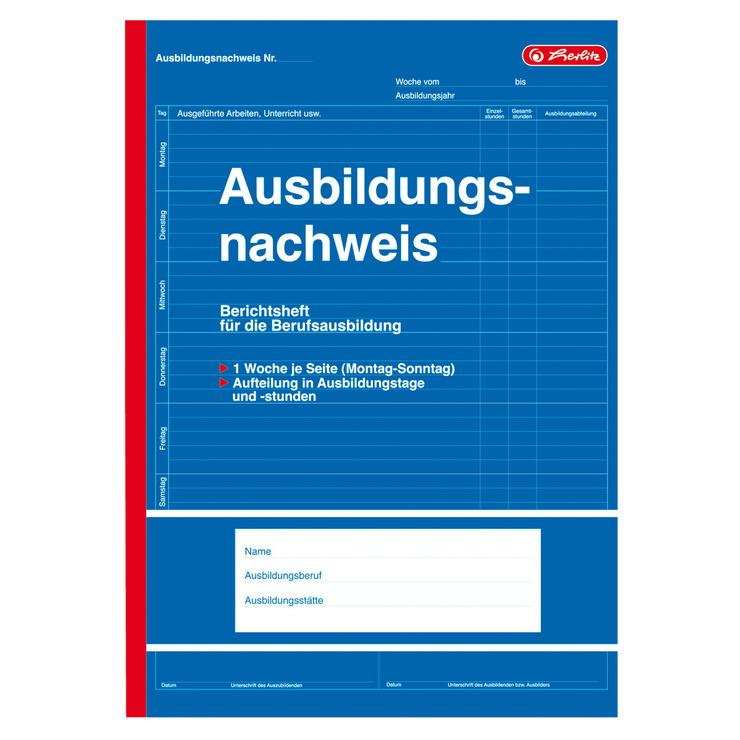 Herlitz Berichtsheft F Berufsausbildung Ausbildungsnachweis