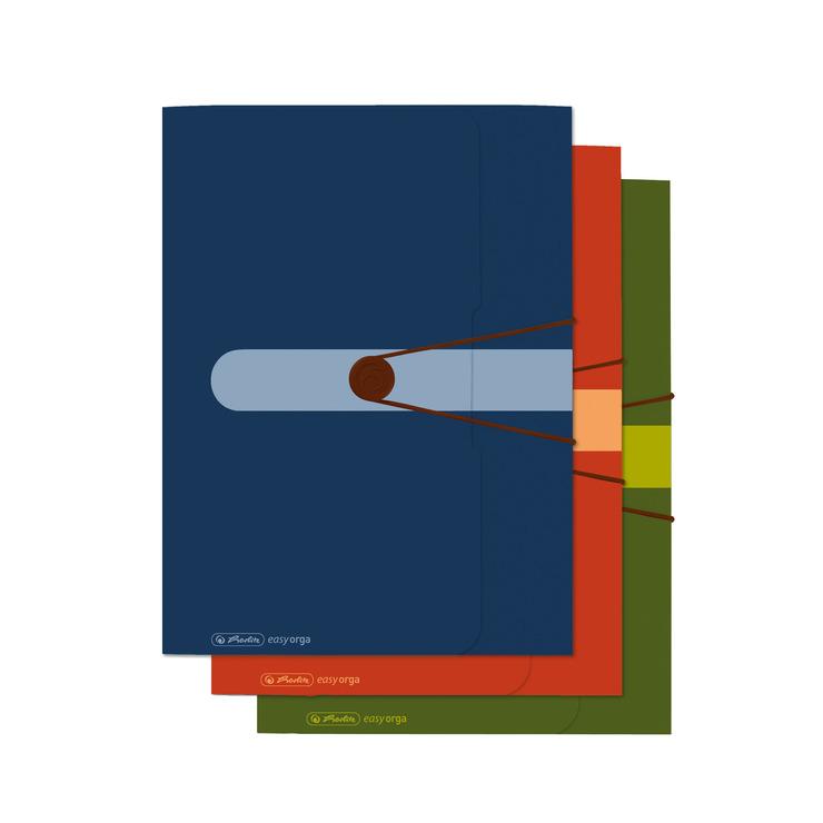 HERLITZ Postmappe gelb A4 PP Gummizug