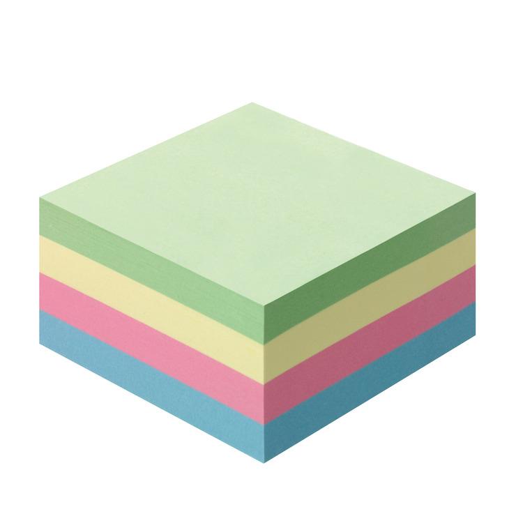 herlitz haftnotizklotz haftnotizblock 75x75mm 400blatt pastellfarben papersmart. Black Bedroom Furniture Sets. Home Design Ideas