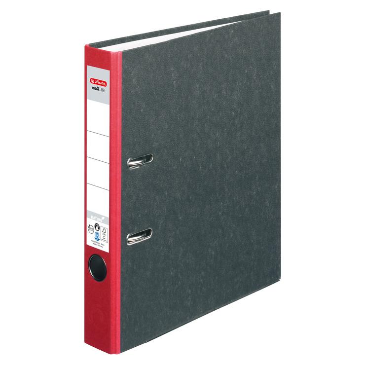 ordner din a4 50 mm karton wolkenmarmor rot papersmart. Black Bedroom Furniture Sets. Home Design Ideas