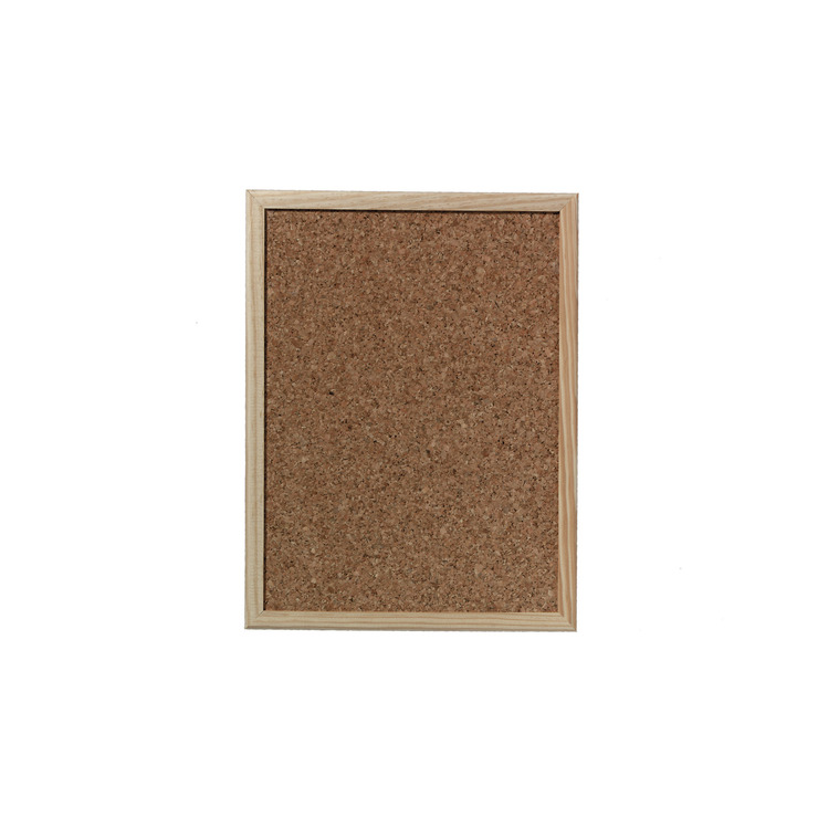 + 60 Pinnwand-Nadeln Pinnwand mit Naturholzrahmen 40 cm x 30 cm Herlitz Kork