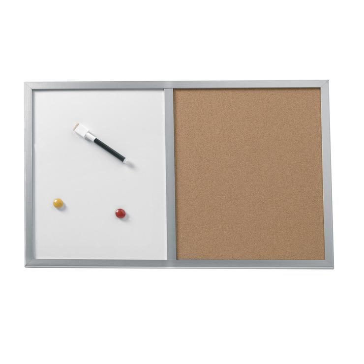 herlitz pinnwand und magnettafel magnetische schreibtafel 40x60cm mit holzrahmen silber papersmart. Black Bedroom Furniture Sets. Home Design Ideas