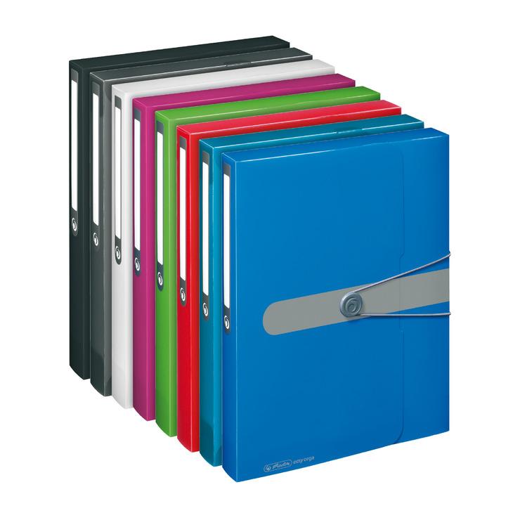 herlitz Sammelbox easy orga to go DIN A4 beere opak pink Heftbox 4cm