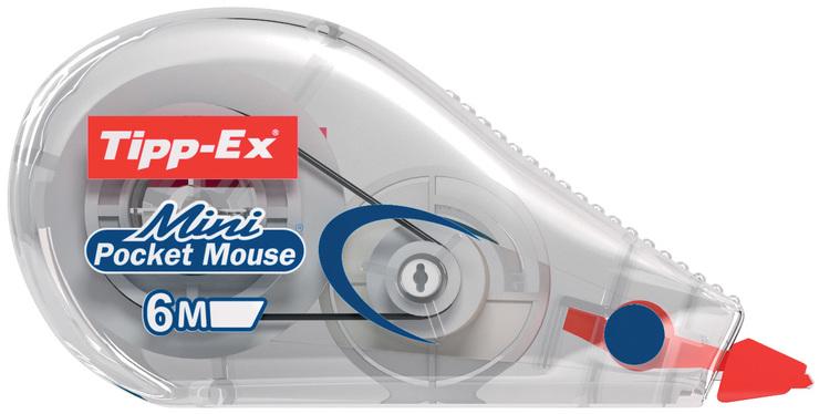 Korrekturroller 3 x Tipp-Ex Mini Pocket Mouse 6m x 5mm weiß