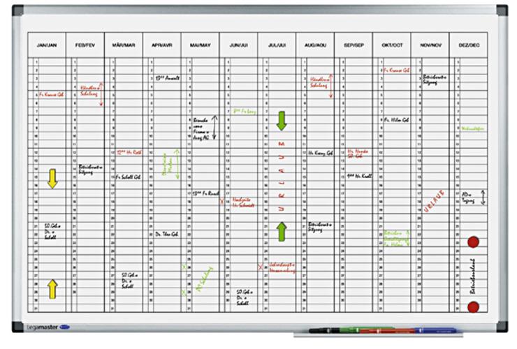 Legamaster Jahresplaner PREMIUM vertikal | Papersmart